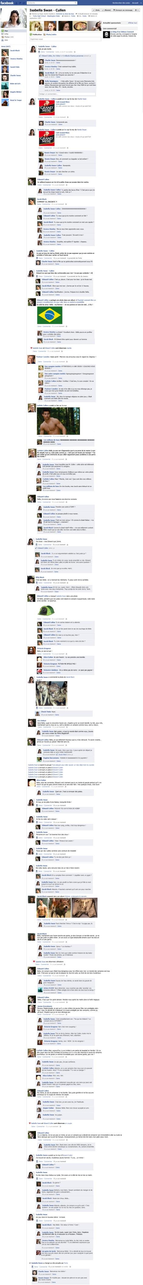 Ho ! Une page Facebook à base de Twilight, comme tout cela est sale !